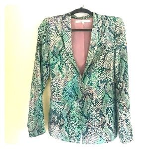 Lovers and friends Print Blazer